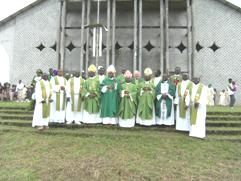 Bishops and Priests at the End of the Closing Mass in Mamfe