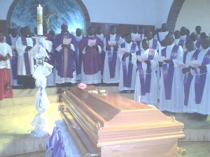 Bishop and priests pray for late Fr. Paul in Kumbo (3)