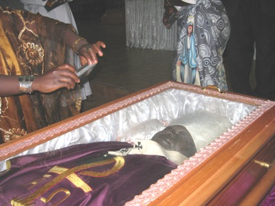 Viewing of mortal remains at St. Joseph Cathedral Mankon, Bamenda