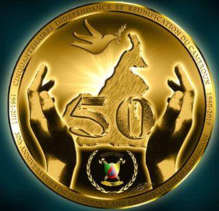 Cameroon_50th_anniversary logo
