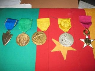 Sample of medals usually awarded