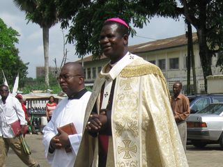 Archbishop Kleda on arrival from Rome as he moves into the Cathedral