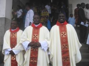 Rev. Frs. Eric Gami, John Asua and Mugagga Epah