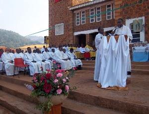 Fr. Cyprain Tatah addresses