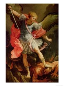 Angel defeats satan