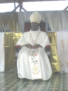Bishop Agapitus Nfon on the throne