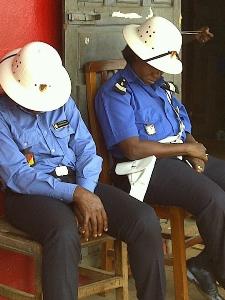 Sleeping police officers