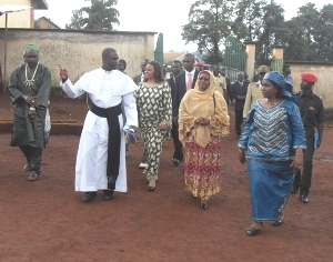School Manager takes the minister on a guided tour