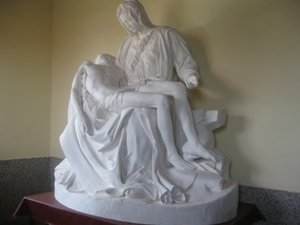 The statue of the Pieta that moved several women to tears