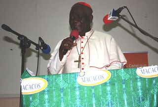 Christian Cardinal Tumi commmenting on his book