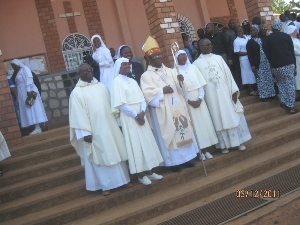 Finally professed Sisters and celebrants