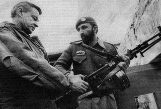 Former US National Security Adviser Zbigniew Brzezinski meeting with Osama Bin Laden