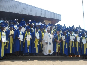 Archbishop Esua and graduating students