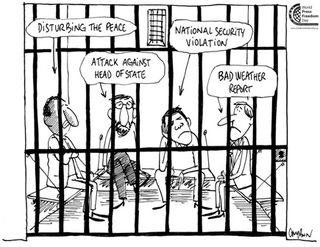 Cartoon on press-freedom