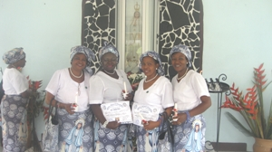 Newly dedicated CWA members Mvog-Ada