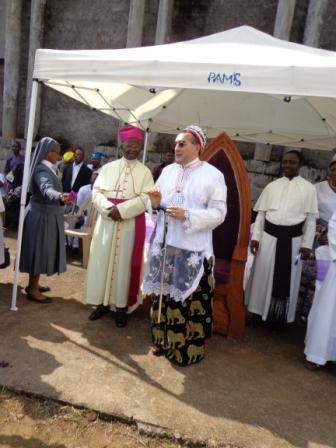 Nuncio in tradirional robes