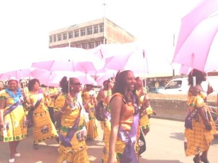 Lesans at marchpast along commercial avenue