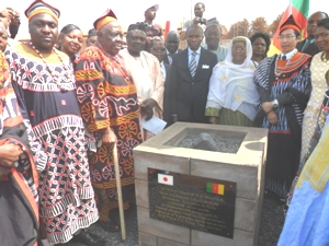 Trad Rulers - NW Governor- Ambassador and Minister at Foundation Stone site