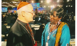 The Pope's representative at UN Conference H.E. Odilo Cardinal Pedro Scherer in a chat with WUCWO Africa President