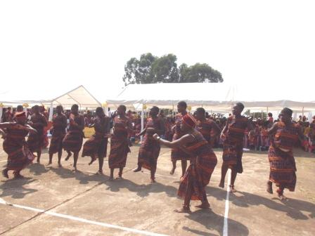 Traditional dances  and animation at college campus