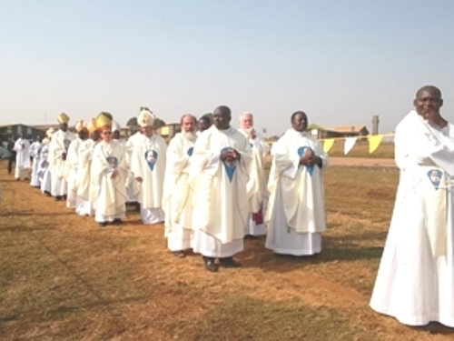 Long line of priests