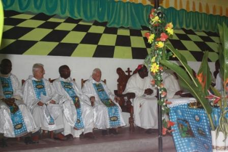 Cross section of priests during the anniversary Mass