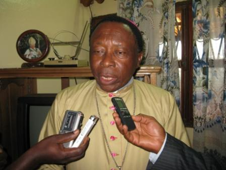 Bishop of Bafossam, Mgr. Dieudonné Watio
