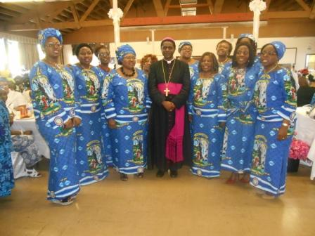 Bishop Nkea and LESA members