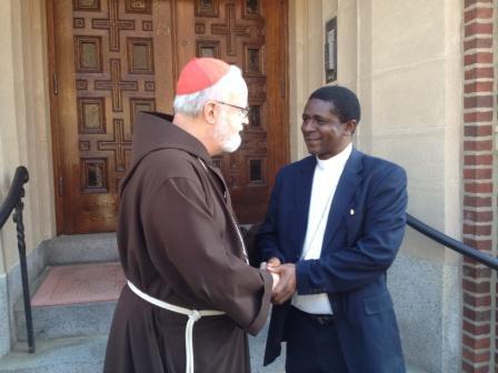 Cardinal O'Malley receives Bishop Nkea