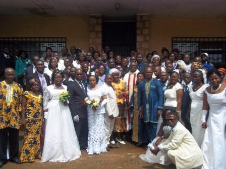 The Parish Priest and the newly wedded couples