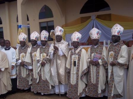 Concelebrating Bishops at the Inauguration of SAJOPAMS Batchuo Ntai