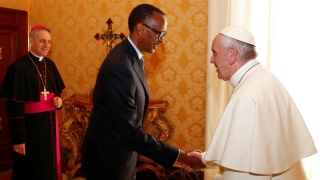 Kagame_Pope Francis