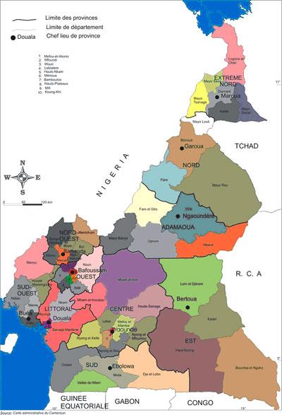 The Entrepreneur Cameroons Premier Economic Business Journal - Cameroon language map